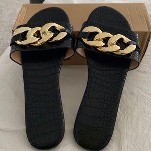 Black sandals brand new